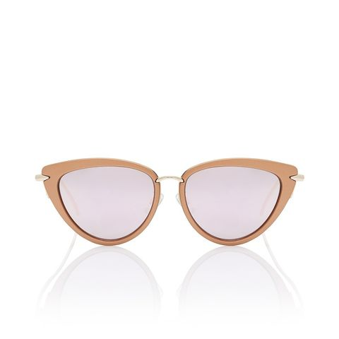 Senorita Metallic Rose Gold Sunglasses