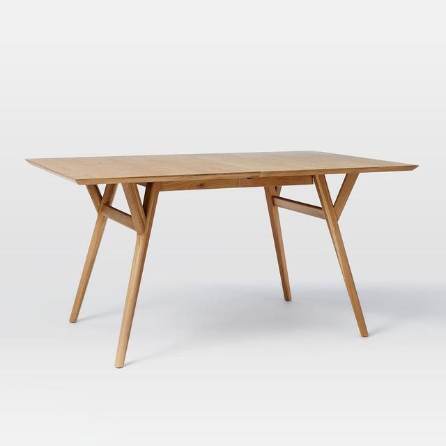 West Elm Mid-Century Expandable Dining Table - Oak