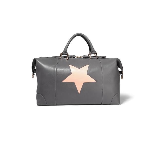Eddie Harrop The Voyager Appliquéd Textured-Leather Weekend Bag