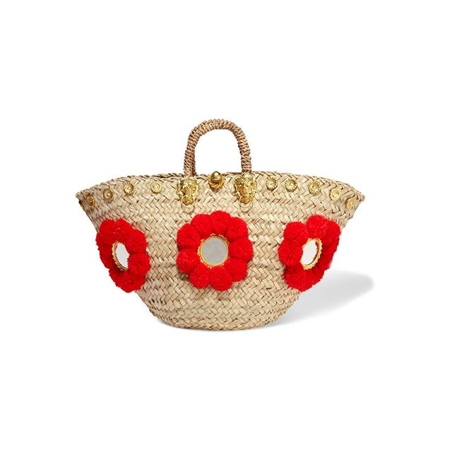 Muzungu Sisters Sicilian Embellished Straw Basket