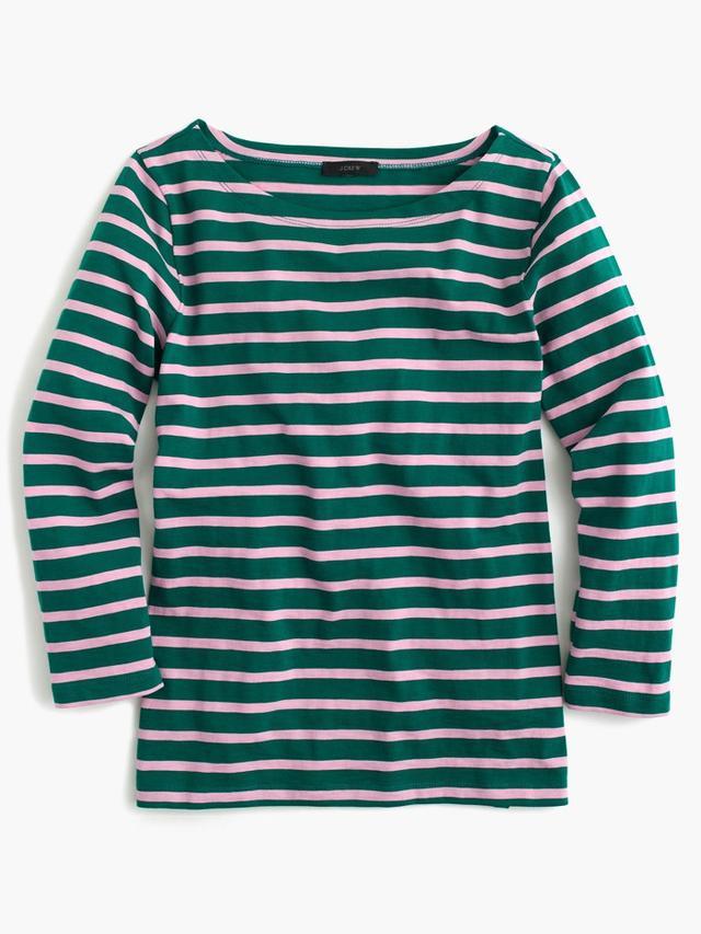 J.Crew Sailor-Stripe Boatneck T-Shirt