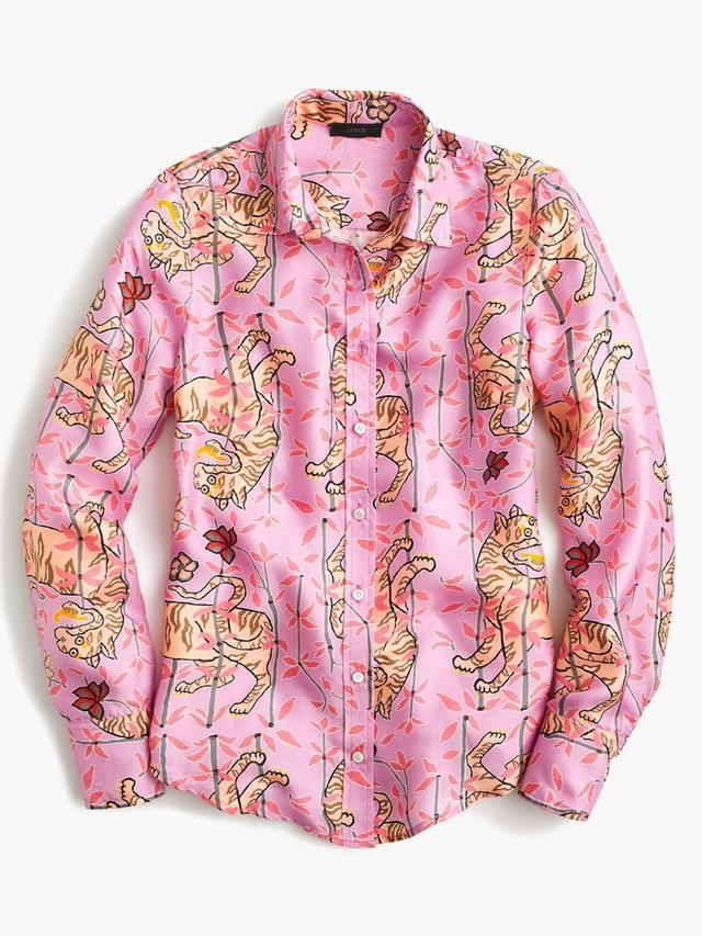 Drake's for J.Crew Perfect Shirt in Pink Bengal Tiger