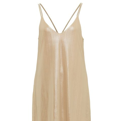 Metallic Slip Mini Dress
