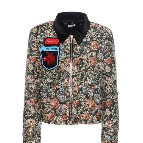 Jacquard Jacket With Appliqué