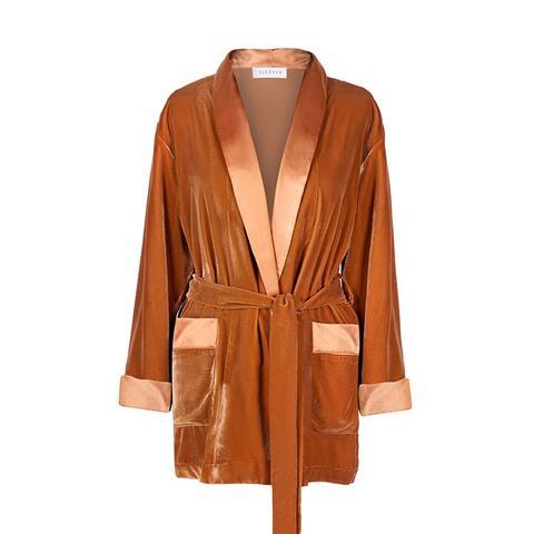 Sahara Gold Velvet Robe