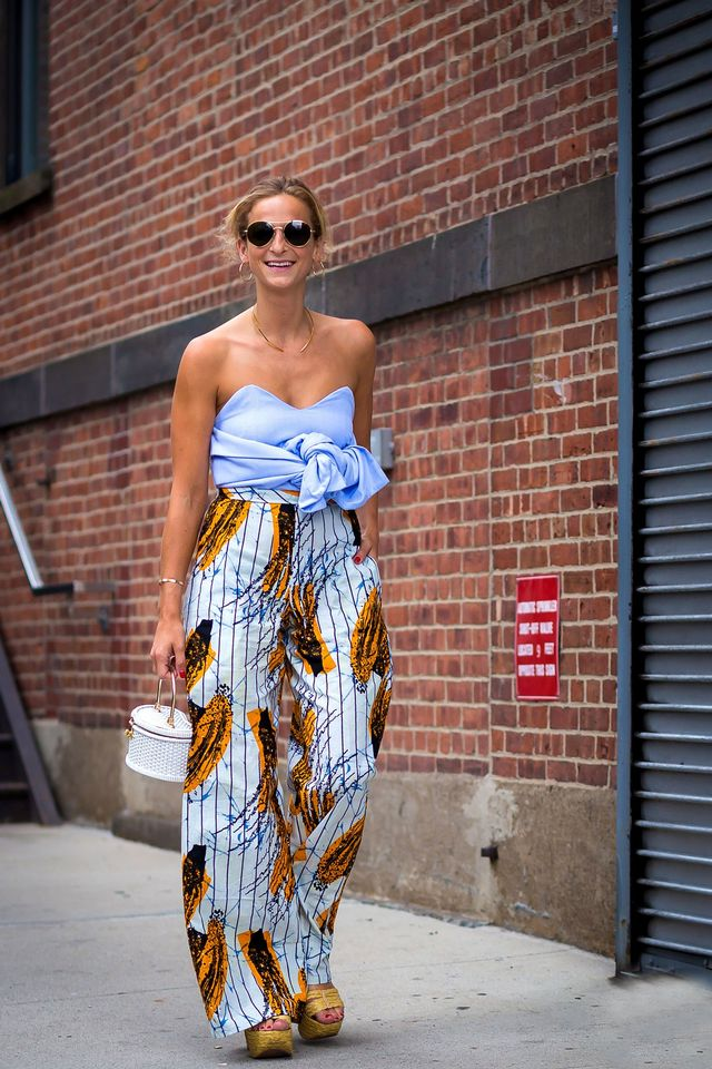 Annie Georgia Greenberg is exactly how we want to dress for spring. Exposed shoulders, bright colours, and a straw bag (that will never leave our side).