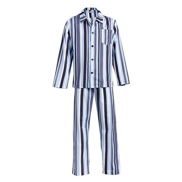 Peter Alexander Mens Blue Stripe Classic PJ Set