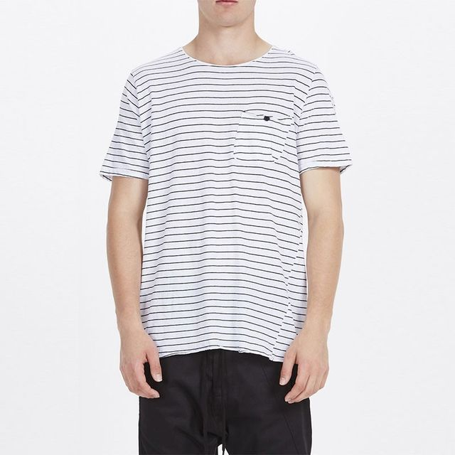 Bassike Stripe Original Cotton Stripe T-Shirt