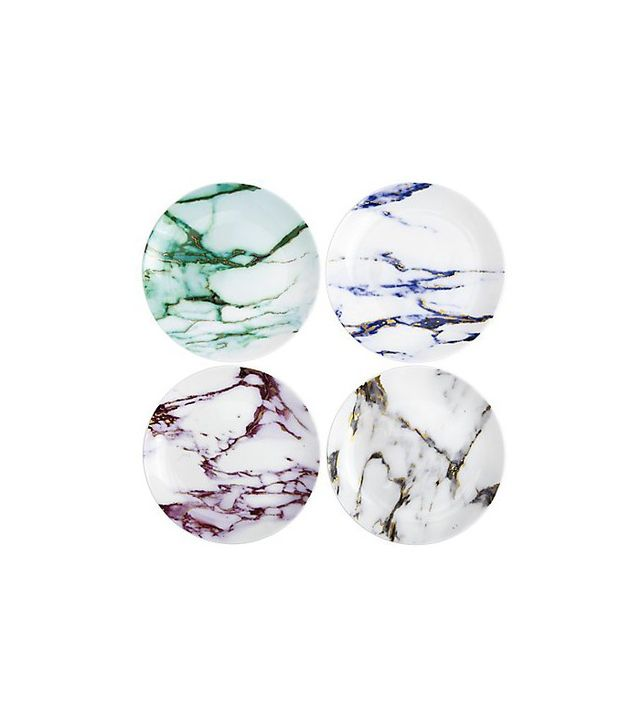 Marble Canape Plates, Set of 4