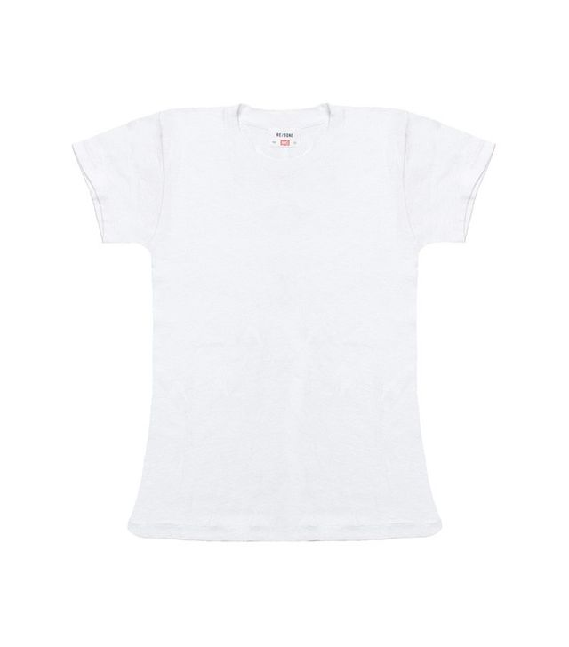 Re/Done | Hanes The 1960s Slim Tee in Optic White