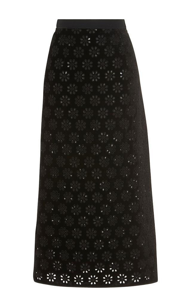 Giambatista Valli Laser Cut Floral Skirt