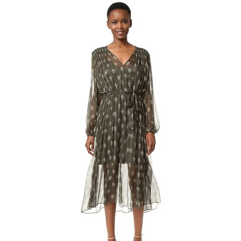 Karmic Stamp Smock Dress