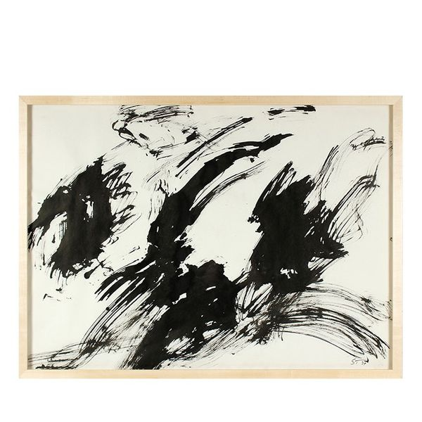 Seymour Tubis Bold Ink Abstraction