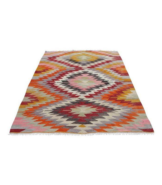 Mister Pillow Vintage Handmade Turkish Kilim Rug