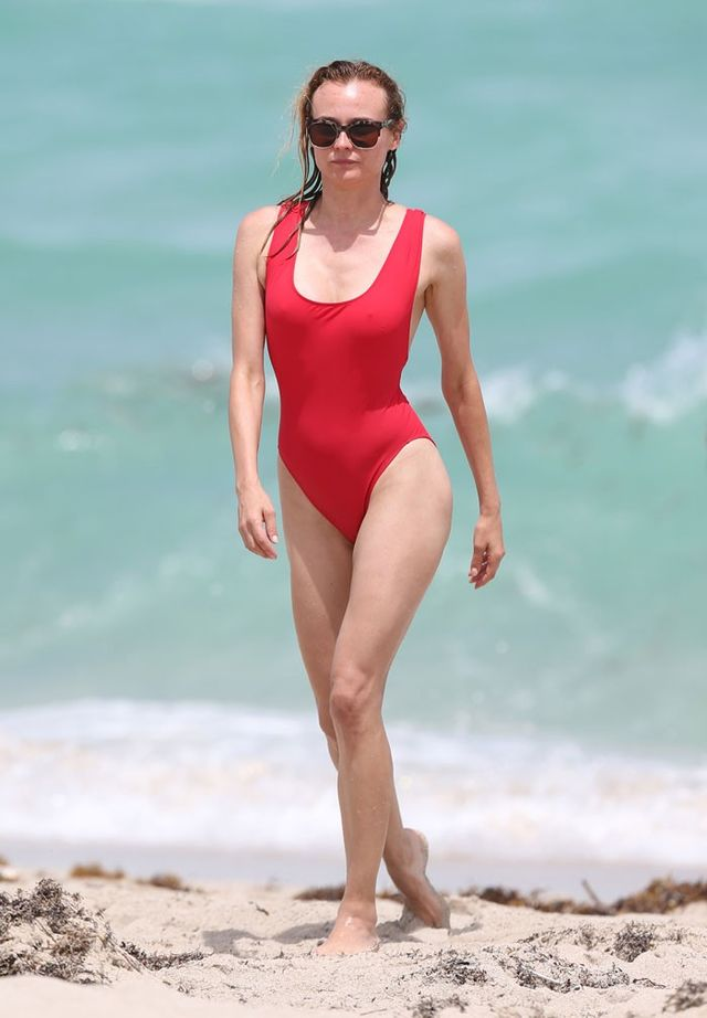 On Diane Kruger:Araks's Jireh One-Piece Swimsuit($311, available in black).
