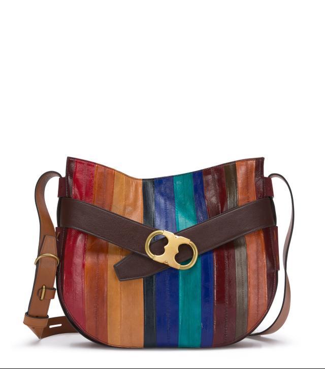 Tory Burch Gemini Link Eel Stripe Shoulder Bag