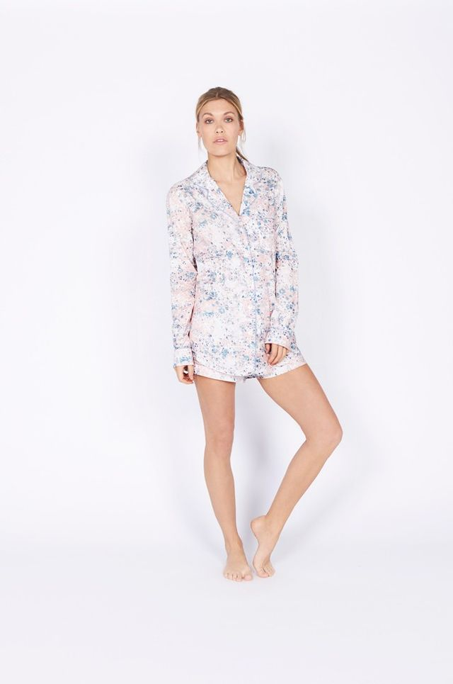 Desmond & Dempsey Riccardo Print Short Luxury Cotton Pajama Set
