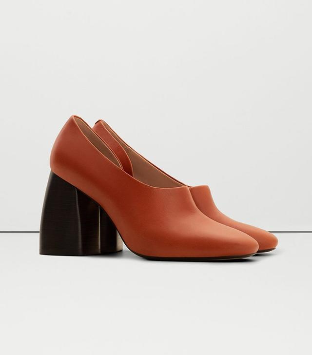 Mango Heeled Leather Shoes