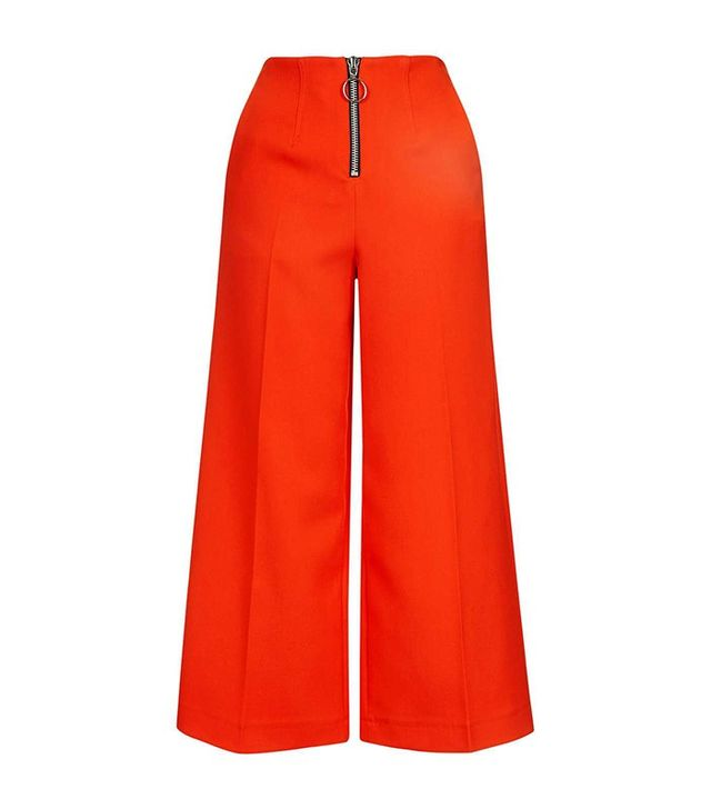 Topshop Boutique Ring Zip Wide Trouser