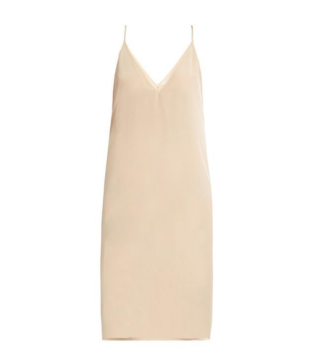 Raey Deep V Silk Slip Dress