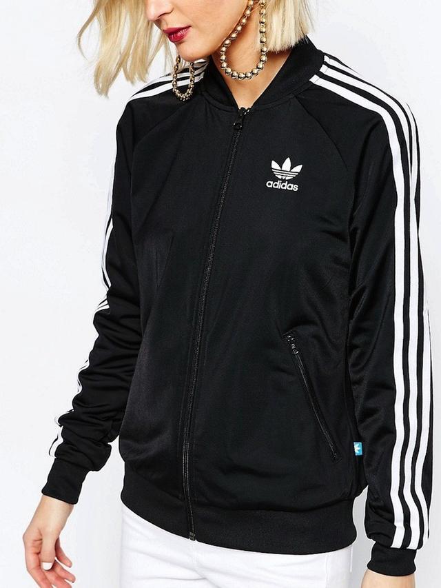 Adidas Originals Adicolour 3 Stripe Zip Front Supergirl Bomber Track Top