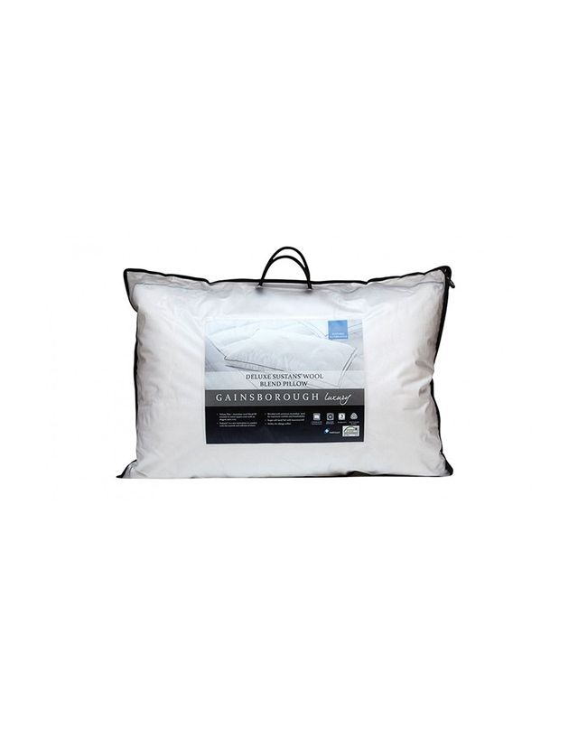 Gainsborough Luxury Deluxe Sustans Wool Standard Pillow