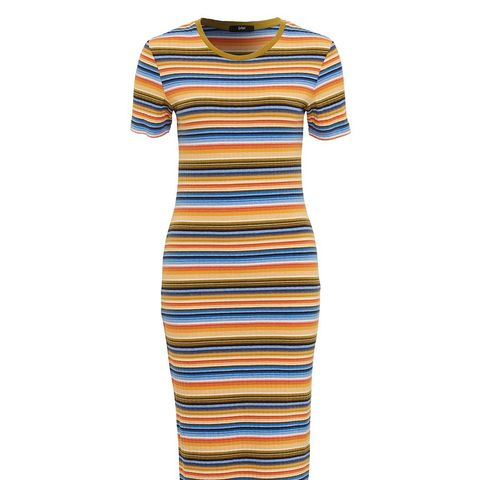 Glamping Stripe Midi Dress
