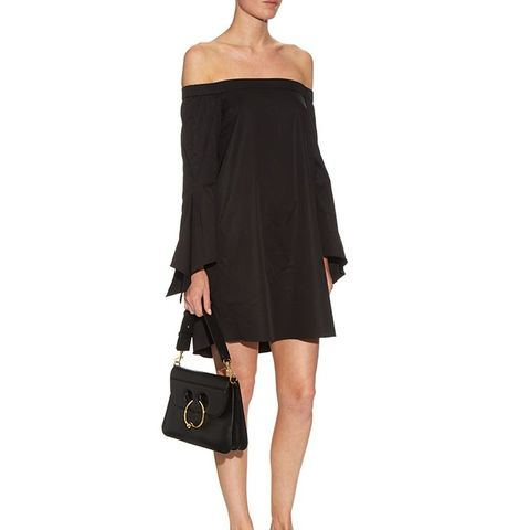 Off-the-Shoulder Cotton Mini Dress