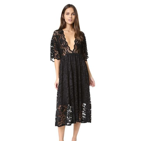Ayame Lace Deep V Dress