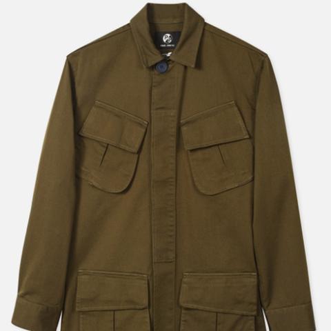 Women's Khaki Cotton-Twill Utility Jacket