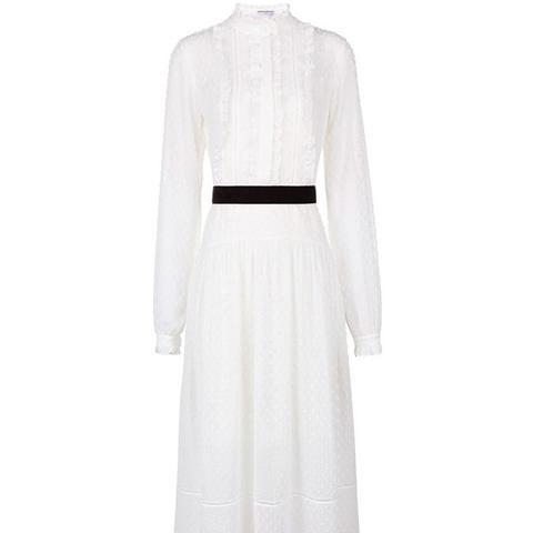 Ivory Victoriana Dobby Dress