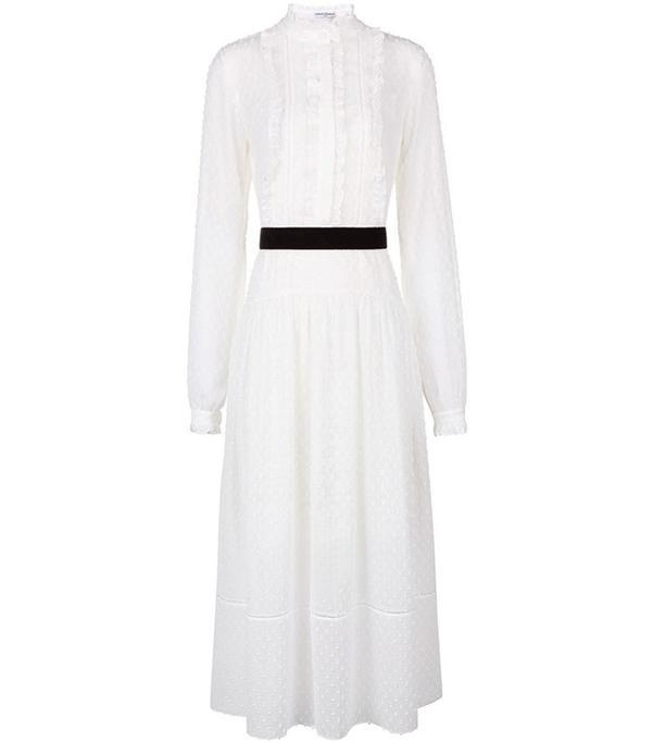 Perseverance London Ivory Victoriana Dobby Dress