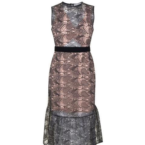 Drop Hem Lace Dress