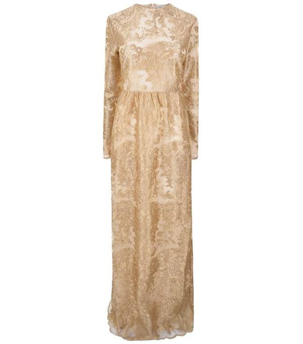 Perseverance London Gold Embroidered Gown