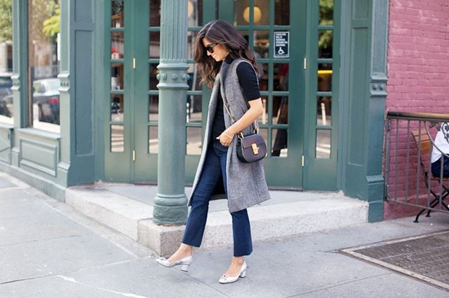 """These two trends together are a great duo to try for fall because they dress up and down so well (great for work and for play), and I think they're universally flattering—they..."