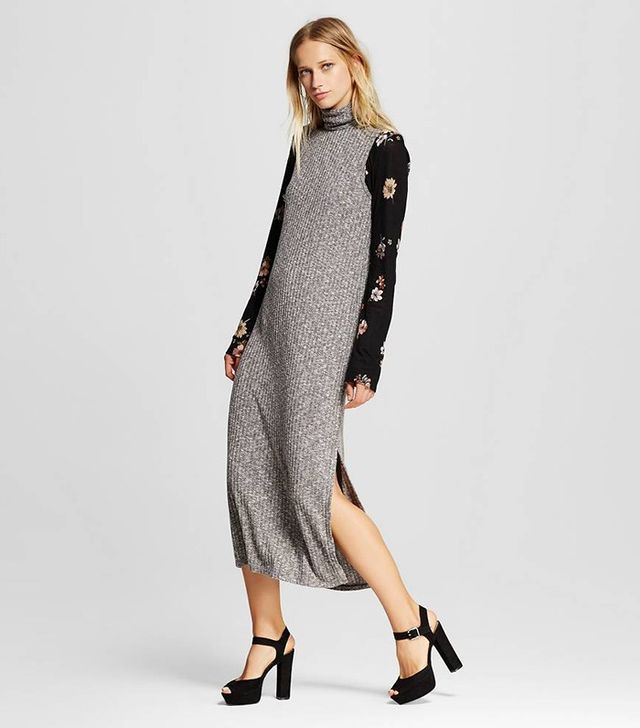 Who What Wear Sleeveless Turtleneck Dress