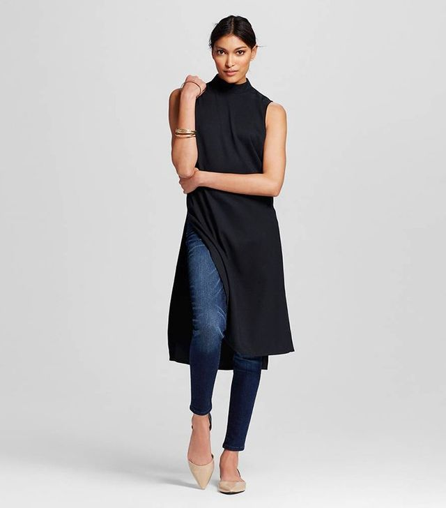 Who What Wear Mock-Neck Tunic