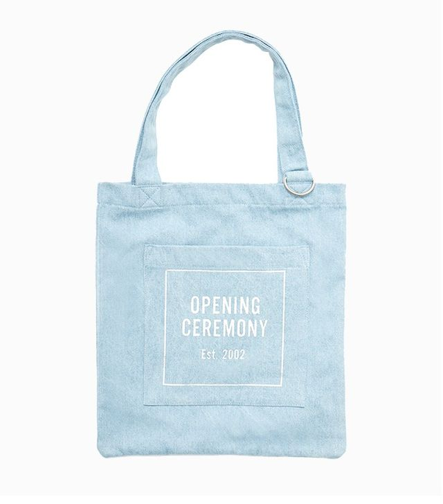 Opening Ceremony OC Logo Denim Tote Bag