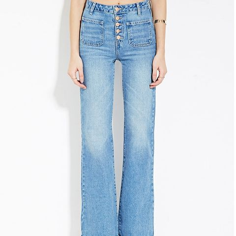 Patch Pocket Flare Jeans