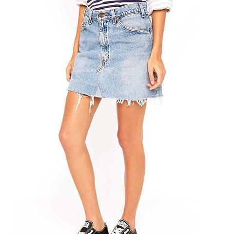Vintage Re-Made Levi's Denim Mini Skirt
