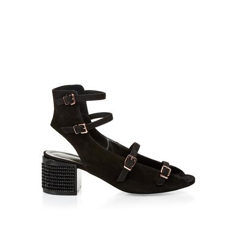 Elona Suede Block-Heel Sandals