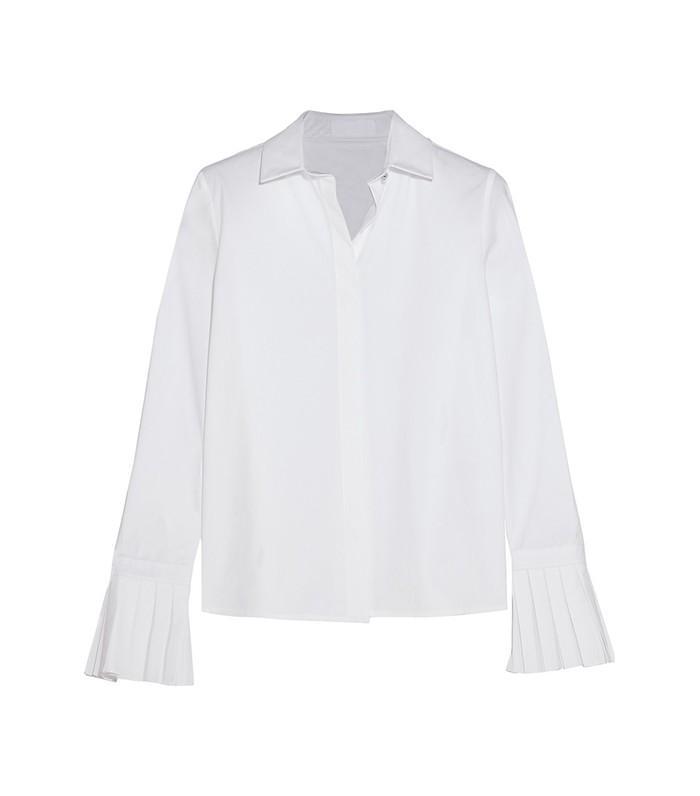 Co Pleated Cotton Poplin Shirt
