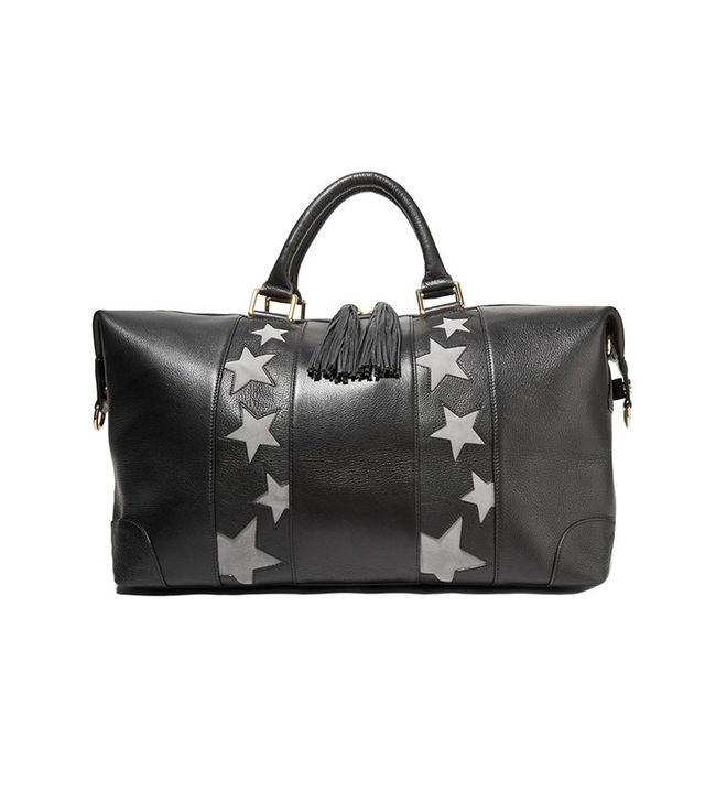 Eddie Harrop The Voyager Textured-Leather and Suede Weekend Bag