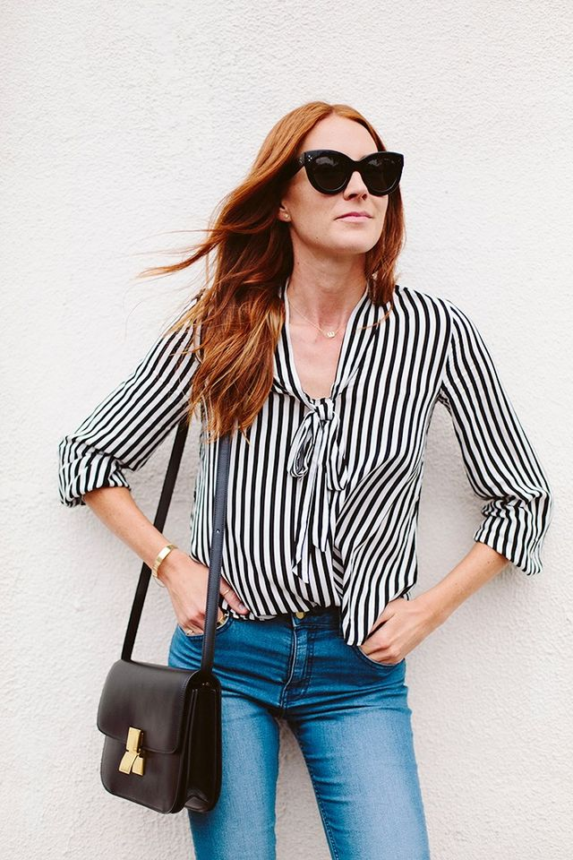 """One way I've been transitioning my wardrobe from summer to fall is by adding in some breezy blouses in minimalistic colors and patterns to my wardrobe. This one from H&M has been..."
