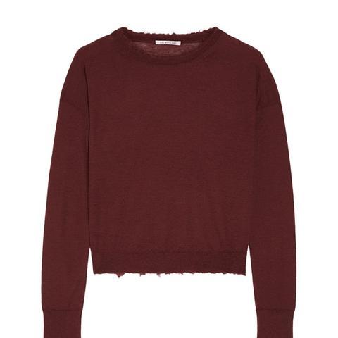 Frayed Cashmere Sweater