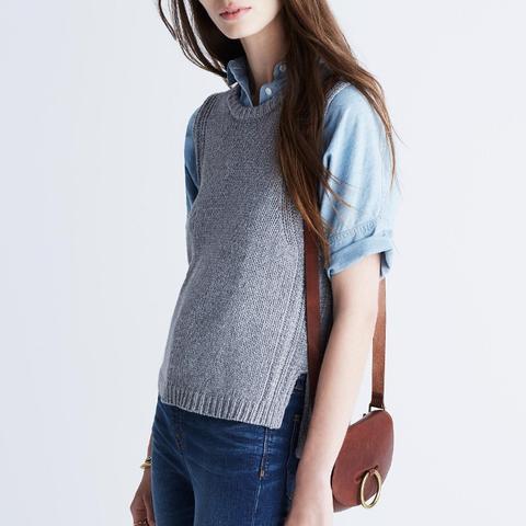 Edgestitch Sweater-Vest