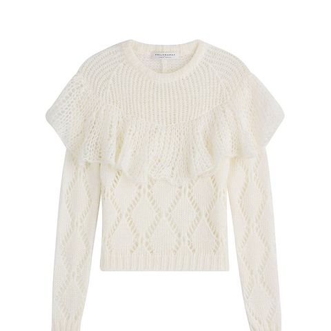 Ruffled Pullover With Mohair