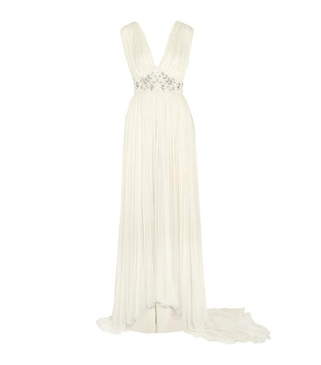 Embellished Chiffon Wedding Gown