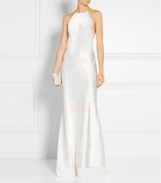 Silk-Satin Wedding Gown