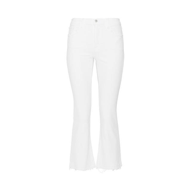 J Brand Selena Crop Mid-Rise Bootcut Jeans